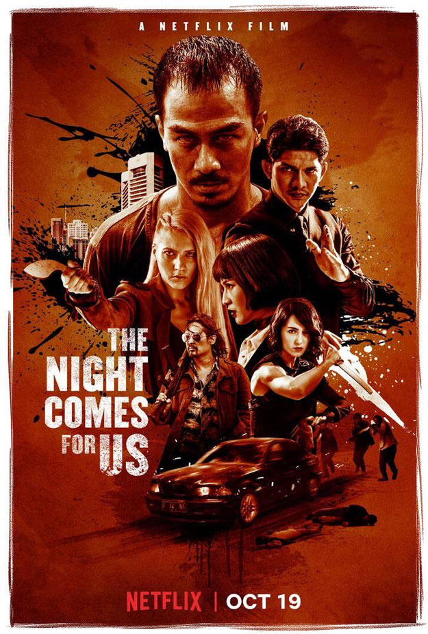 Cartel de The Night Comes for Us, en Netflix