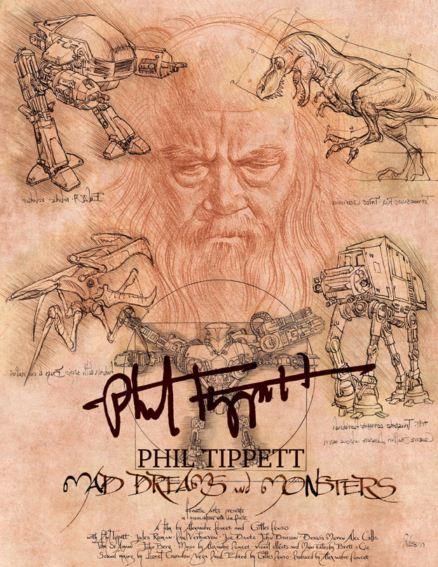 "Virtuoso cartel de ""Mad Dreams and Monsters""... vida y obra de Phil Tippett"