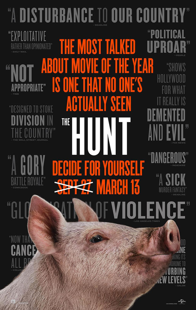 Cartel de The Hunt, un poco de recochineo