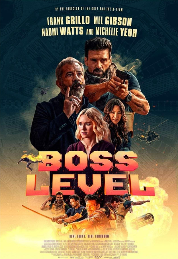 Primer cartel de Boss Level