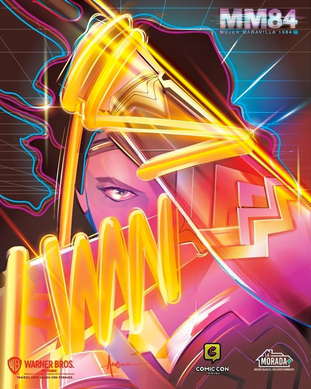 Cartel de Wonder Woman 1984 para a Comic Con de Colombia