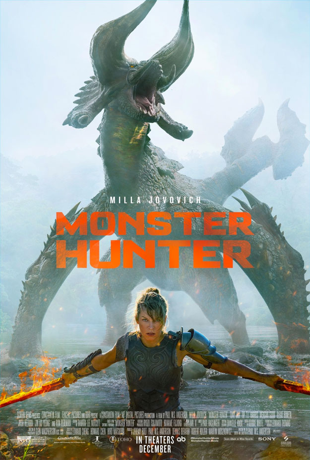 Cartel de Monster Hunter...