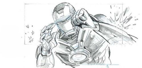 Sketch del storyboard de Iron Man 2... Iron Man