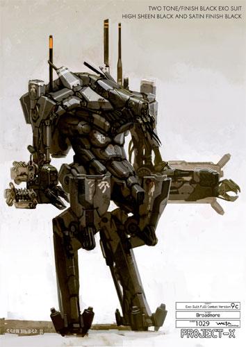 Arte conceptual de District 9 - Exo esqueleto final