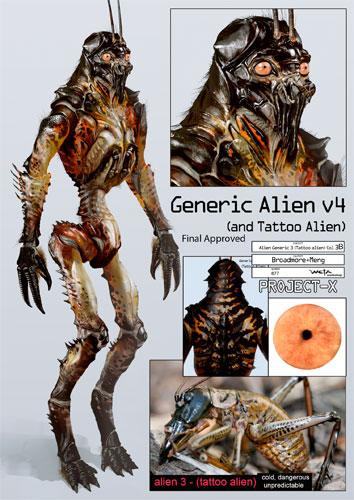 Arte conceptual de District 9 - Diseño final del alien