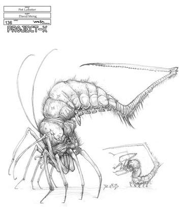 Arte conceptual de District 9 - Animal de compañía alien