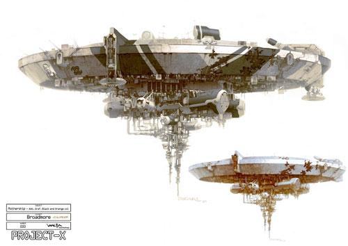 Arte conceptual de District 9 - Estación alien