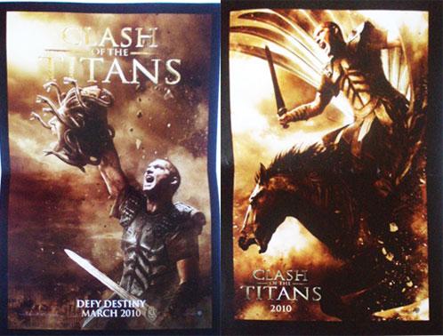 Pósters de Clash of the Titans... Perseo con la cabeza de Medusa y con Pegaso