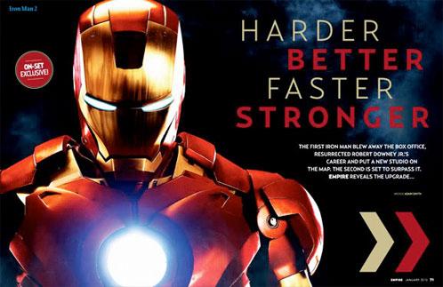 Página interior del artículo de Empire y mejor vistazo a Iron Man