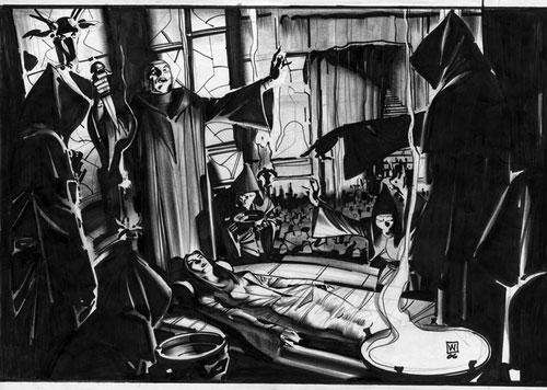 Arte conceptual de John Watkiss para Sherlock Holmes (750$)