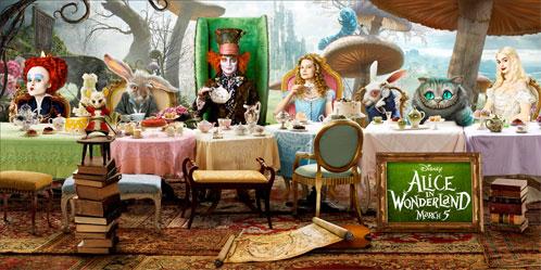 Nuevo cartel de Alice in Wonderland aparecido en Apple.com