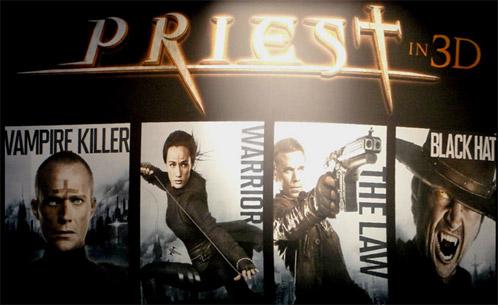 Banner de Priest presentado en la Comin-Con