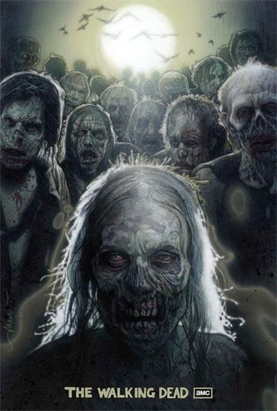 """El genio Drew Struzan y su propuesta de cartel para """"The Walking Dead"""""""