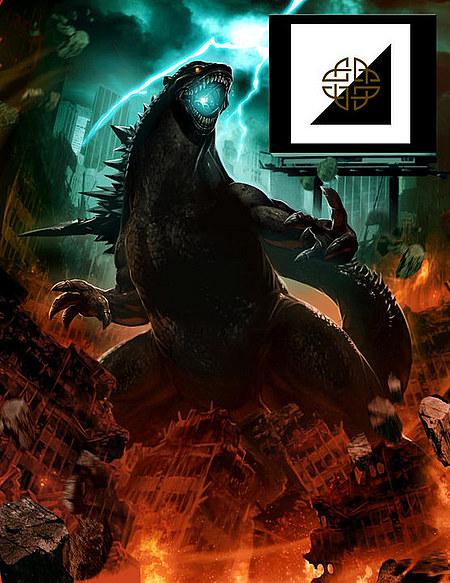 Primer diseño del nuevo Godzilla presentado por Warner Bros. / Legendary Pictures
