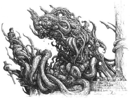 Posible representación gráfica de los Shoggoth creado por H.P. Lovecraft