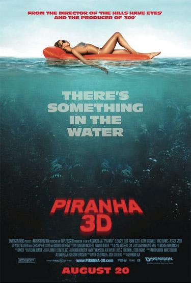 Otro cartel más de Piranha 3D... más de lo mismo