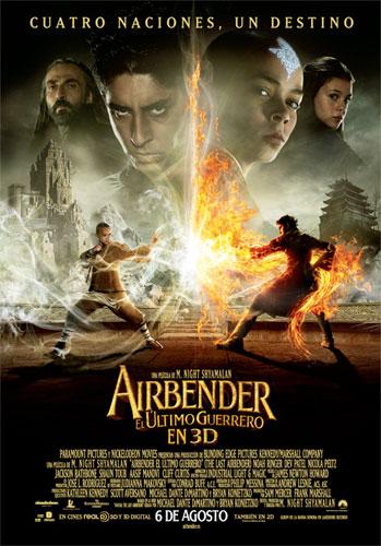 Cartel español de Airbender: el último guerrero