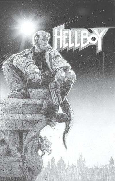 Póster de Hellboy realizado por Drew Struzan