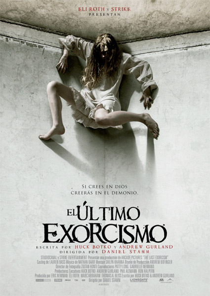 Cartel de la recomendable El último exorcismo