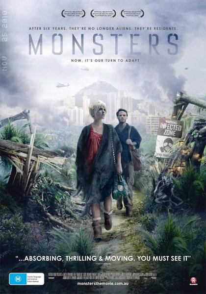 Nuevo cartel de Monsters... film que finalmente veremos en enero del 2011