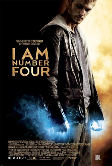 Primer cartel de Soy el número cuatro