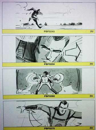Supuesto storyboard de X-Men: First Class