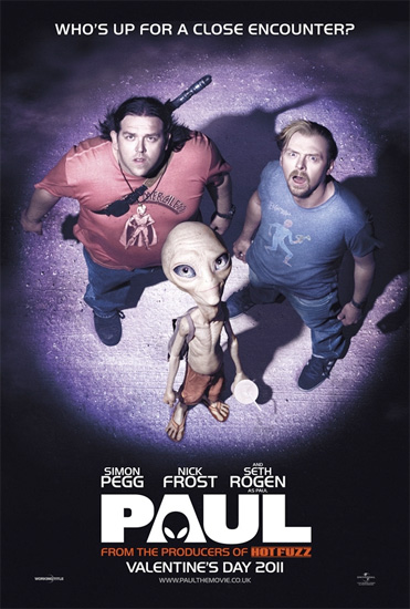 Primer cartel oficial de Paul con Simon Pegg y Nick Frost