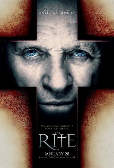 Primer cartel de The Rite con Anthony Hopkins
