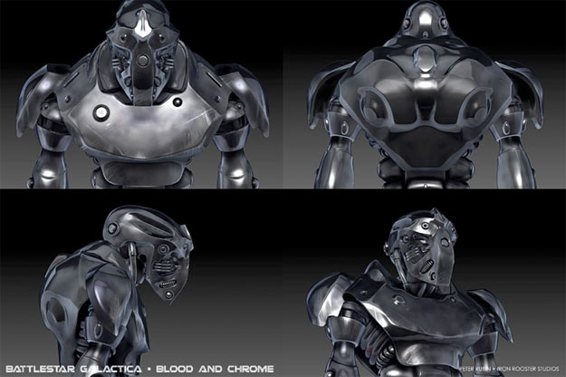 "Prometedor concept art de ""Battlestar Galactica: Blood and Chrome"""