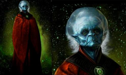 Los Guardianes del Universo del planeta Oa, creadores de la Green Lantern Corps.