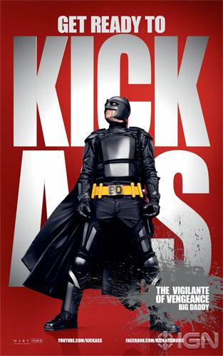 Nuevo cartel de Kick-Ass con Big Daddy