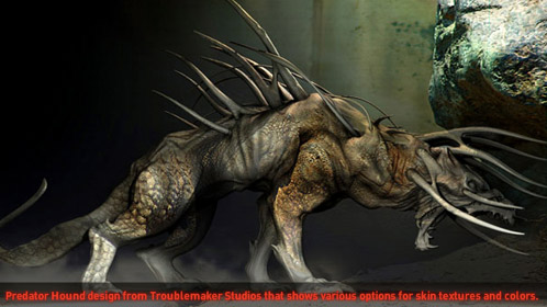 Perro de caza de Predators. ¿No recuerda demasiado a The Relic?