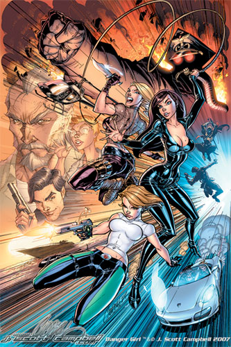 Las Danger Girl de Jeff Scott Campbell
