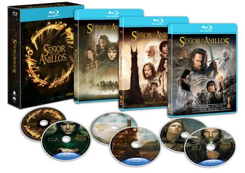 Pack completo de La Trilogía de El Señor de los Anillos en Blu-Ray