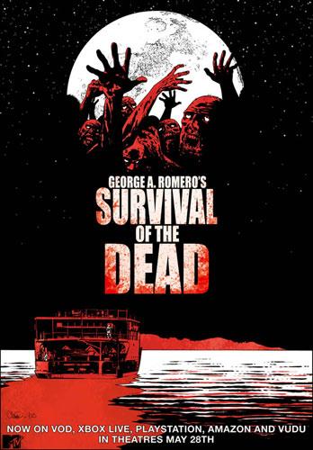 Póster comiquero de Survival of the Dead