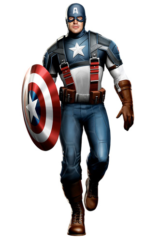 Diseño del traje que veremos en Captain America: The First Avenger