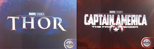Se confirman los logos de Thor y Captain America: The First Avenger