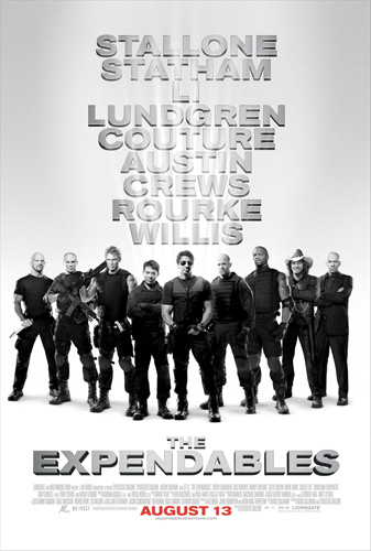 Póster final de Los mercenarios / The Expendables