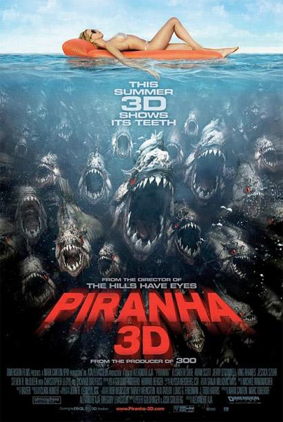 Nuevo simpático póster de Piranha 3D