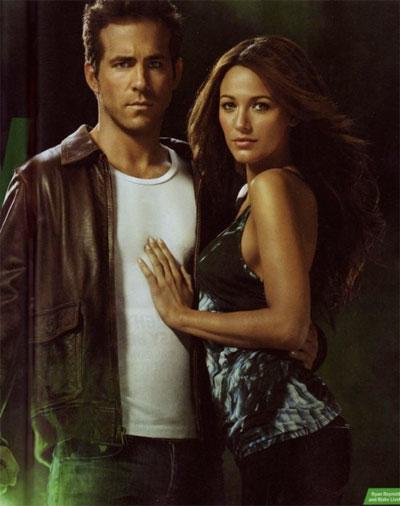 Hal Jordan (Ryan Reynolds) y Carol Ferris (Blake Lively)
