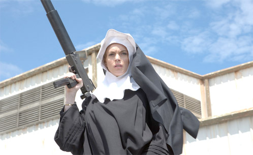 Lindsay Lohan como April Benz en Machete