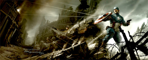 Concept Art de Captain America: The First Avenger para la Comic-Con 2010
