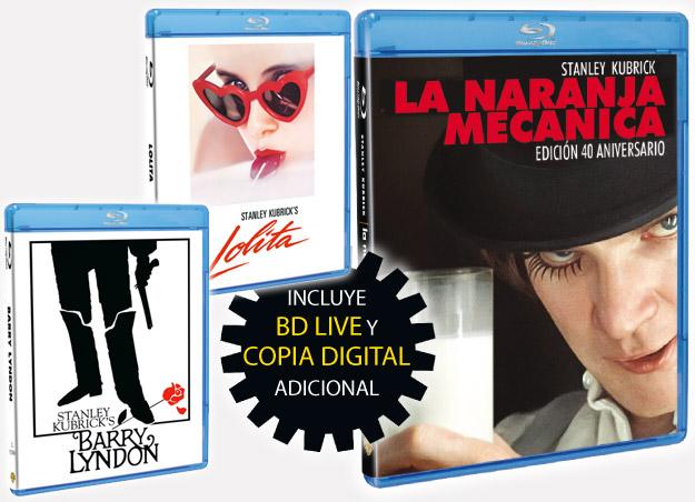 Barry Lyndon, Lolita y La naranja mecánica edición 40 aniversario en Blu-Ray