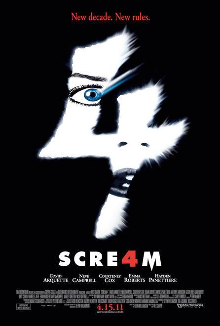 Nuevo cartel de Scream 4