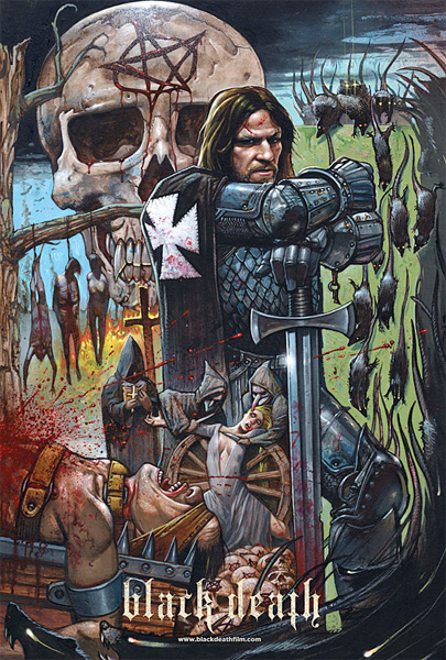 Fabuloso cartel de Balck Death obra de Simon Bisley