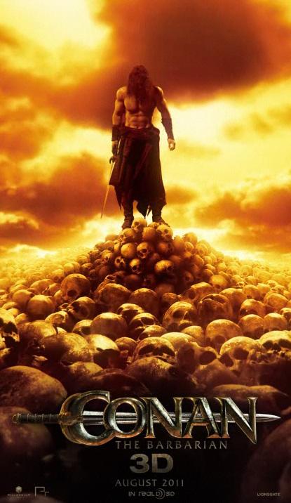 El cartel animado de Conan the Barbarian 3D