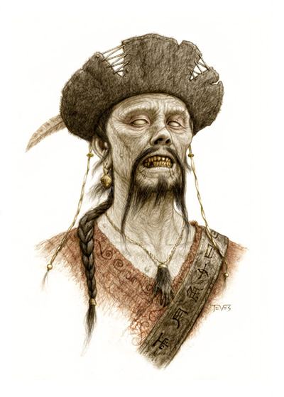 Concept Art de los zombis que veremos en Piratas del Caribe: en aguas misteriosas
