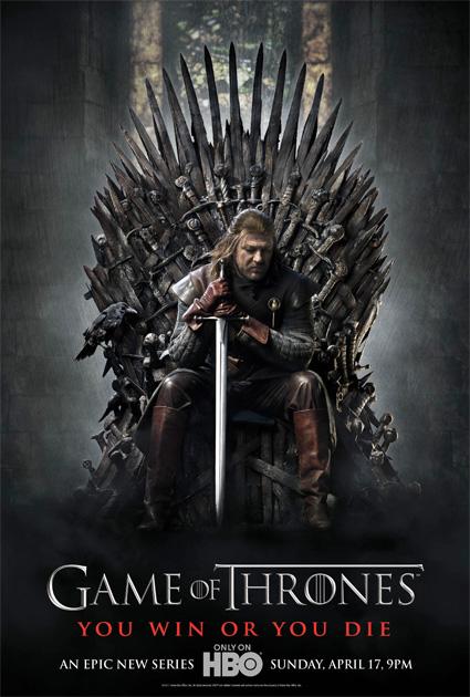 Cartel de la HBO para promocionar la esperada Game of Thrones