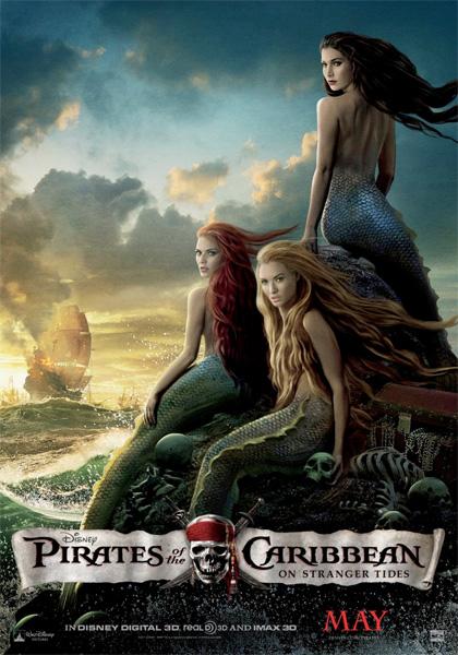 Nuevo cartel pintado de Piratas del Caribe: en mareas misteriosas