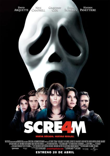 Póster español de Scream 4 de Wes Craven